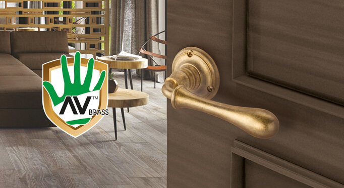 AV Brass ™ Новая латунь в деревенском стиле с противовирусными и антибактериальными свойствами