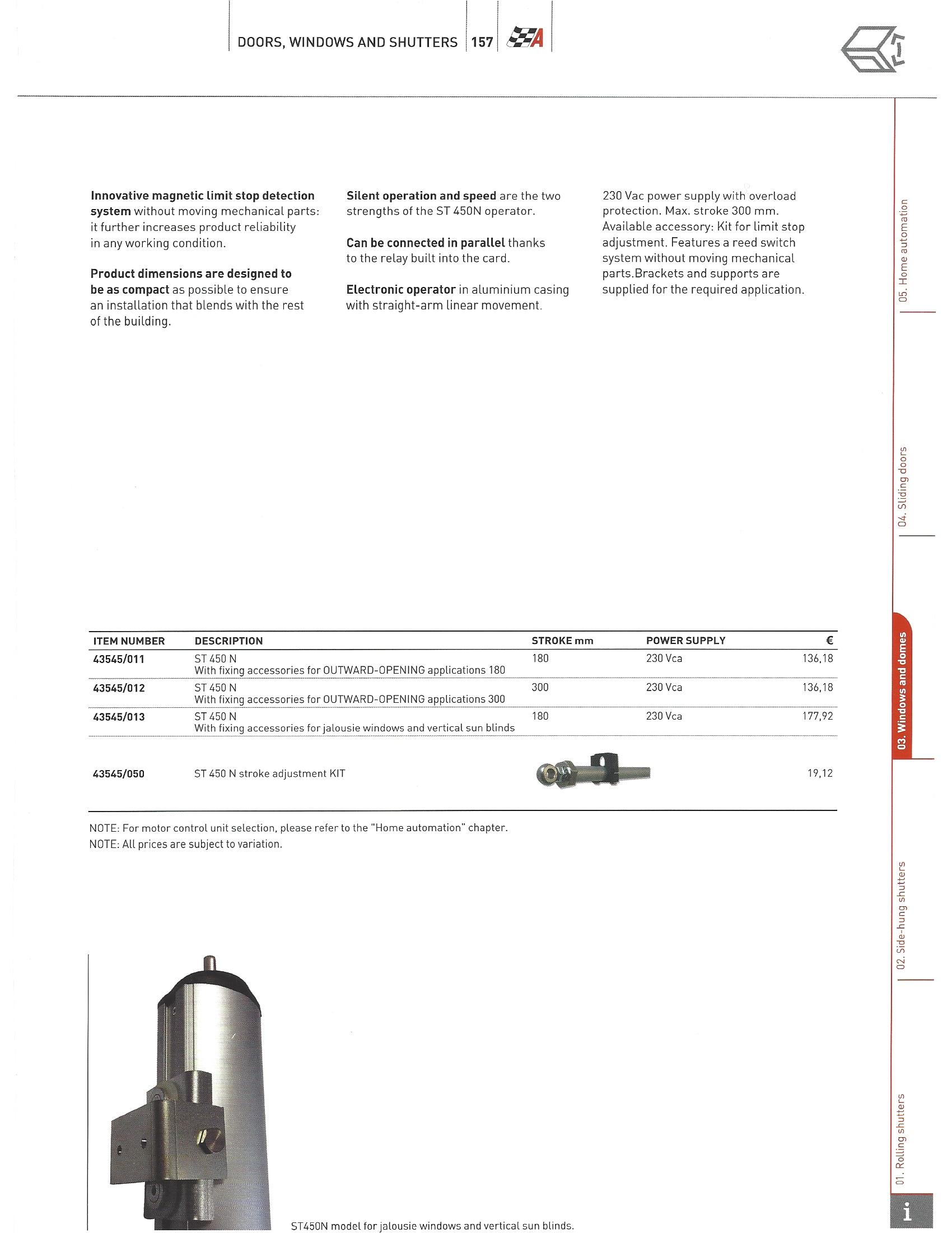 Автоматический электропривод ST 450