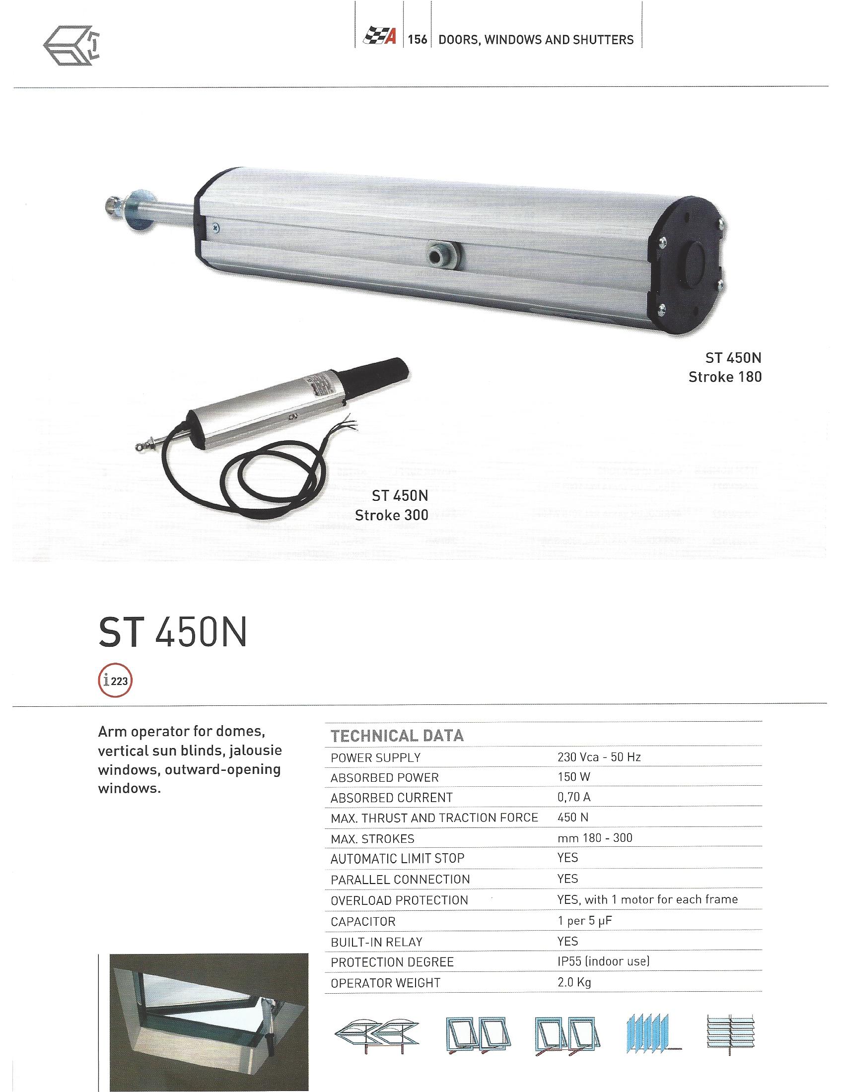 привод оконный ST-450N