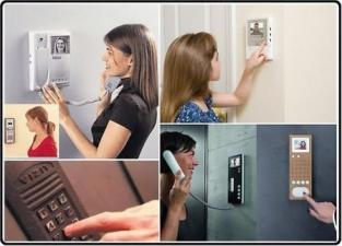 Установка домофонов с видеонаблюдением