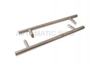Ручка для алюминиевых дверей со смещением, комплект с креплением, L=800