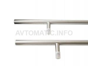 Ручка для алюминиевых дверей со смещением, комплект с креплением, L=1800