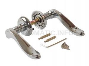 Ручка дверная, ELEMENTIS, с раздельной накладкой, толщина двери 35-50 мм, хром полированный