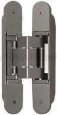 Петля скрытая, 3D, универсальная, 190x31 мм, 120 кг, цамак/алюминий, матовый никель