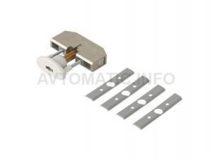 Блокиратор поворота скрытолежащий белый (ключ поставляется отдельно)