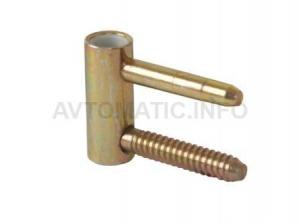 Петля ввертная, 4-штыревая, 3D, створочная часть, диаметр 14 мм, сталь, бихромат