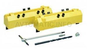 Комплект сверлильных шаблонов для ввертных петель, диаметр 14/16 мм, для дверей без наплава