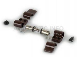 Петля DOMINA HP NEW дверная Giesse 2-х секционная, без крепления, межосевое 62.5, коричневая