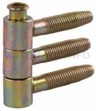 Петля ввертная, 3-штыревая, диаметр 13 мм, сталь, бихромат