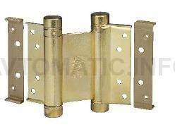 Петля барная 100 мм. для деревянных дверей до 34 кг., латунированная сталь