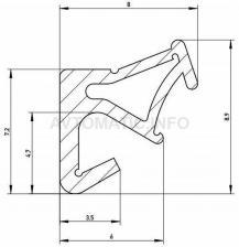 Уплотнитель для деревянных евроокон DEVENTER на наплав створки, ширина паза 3 мм, ТЭП, слоновая кость RAL 1015