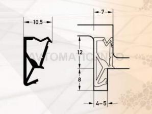 Уплотнитель для деревянных евроокон DEVENTER, ТЭП, белый RAL 9016
