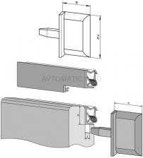 Заглушка концевая DEVENTER на штульповую створку, ширина паза 3 мм, ТЭП, темно-коричневый