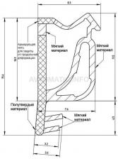 Уплотнитель для деревянных евроокон DEVENTER на наплав и фальц створки, ширина паза 3 мм, ТЭП, коричневый RAL 8002