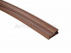 Уплотнитель для деревянных евроокон DEVENTER на фальц створки, ширина паза 4-5 мм, ТЭП, коричневый RAL 8002