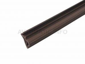 Уплотнитель для деревянных евроокон DEVENTER на фальц створки, ширина паза 4-5 мм, ТЭП, темно-коричневый RAL 8014