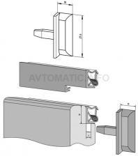 Заглушка концевая DEVENTER на штульповую створку, ширина паза 3 мм, ТЭП, бежевый