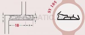 Уплотнитель для деревянных евроокон DEVENTER на фальц створки, ширина паза 4-5 мм, ТЭП, графитовый серый RAL 7024