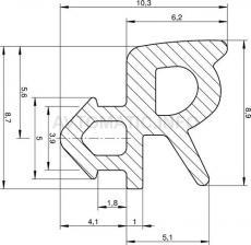 Уплотнитель для стеклопакета Rehau, Montblanc, серый
