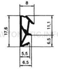 Уплотнитель контурный для межкомнатных дверей DEVENTER, ТЭП, белый RAL 9016