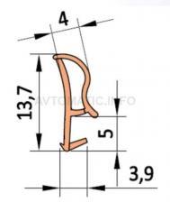 Уплотнитель контурный для межкомнатных дверей DEVENTER, ТЭП, дуб RAL 1002