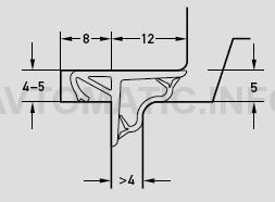 Уплотнитель контурный для входных деревянных дверей DEVENTER, силикон, цинковый серый RAL 7005