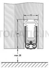 Уплотнитель пороговый DEVENTER, длина 1209 мм, в паз 15x30 мм