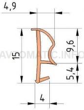 Уплотнитель контурный для межкомнатных дверей DEVENTER, ПВХ (м), дуб RAL 1002