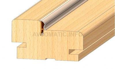 Уплотнитель контурный для межкомнатных дверей DEVENTER, ПВХ, дуб RAL 1002