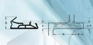 Уплотнитель контурный для входных деревянных дверей DEVENTER, силикон, темно-коричневый RAL 8014
