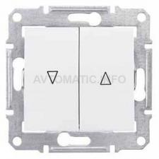 Выключатель для управления приводом окон с электр-ой блокировкой 10А (Белый)