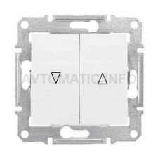 Выключатель для управления приводом окон с мех-ой блокировкой 10А (Белый)