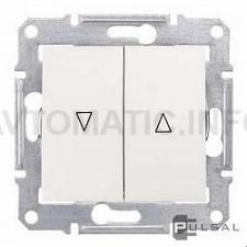 Выключатель для управления приводом окон с мех-ой блокировкой 10А (Бежевый)