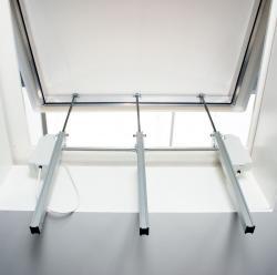 Монтаж реечного электропривода на окно
