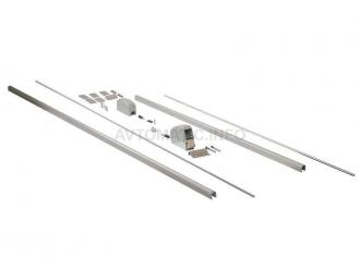 Комплект запоров вертикальных (2 шт.) с 2-мя тягами