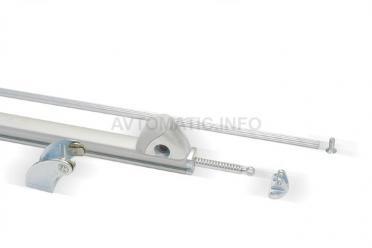 Электропривод реечный RACK MAX 650, 24В, 550мм, серебро, 07447000