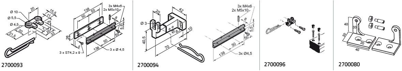 Micro S крепежные аксессуары