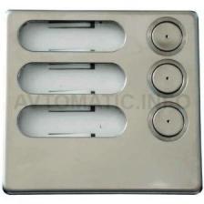 Модуль с 3 клавишами вызова, линия Urmet K-Steel 1155/13A